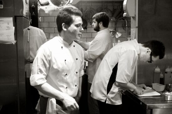 Chefs at work at Isaac At Brighton