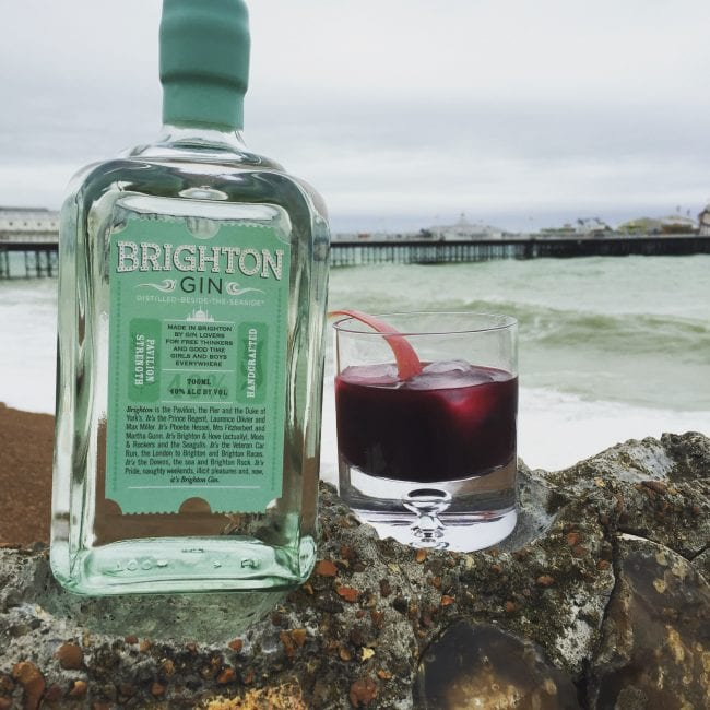 The perfect pairing: Brighton Gin and our beetroot, pear and apple juice