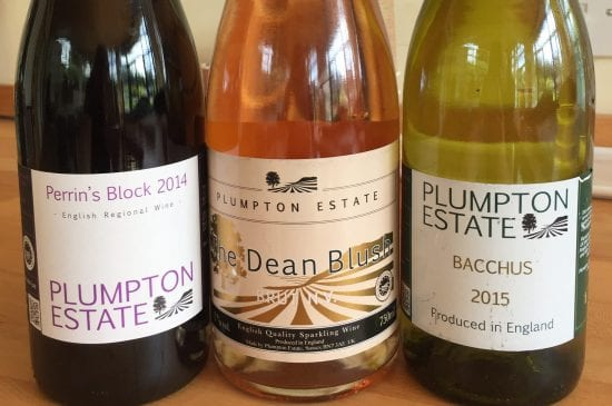 Selection of wines at Plumpton College