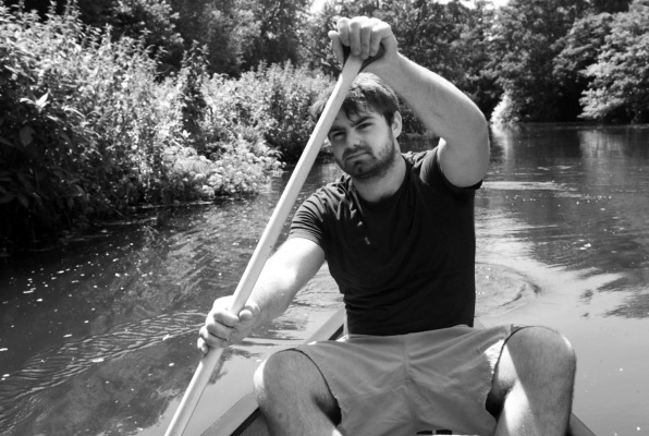 Isaac boating in Barcombe