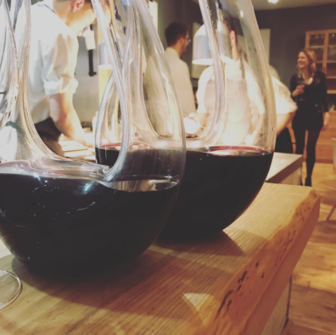 Something special: Bolney Estate Lychgate Red 2014 in our crystal decanters
