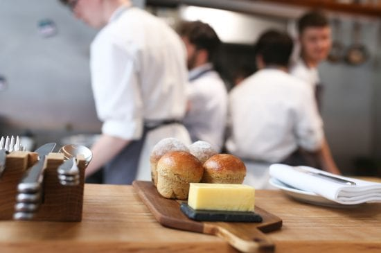 Caramelised Shallot Brioche and butter