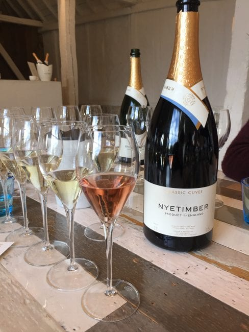 Nyetimber award winning sussex sparkling tasting
